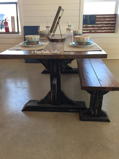 Country Kitchen Table & Bench