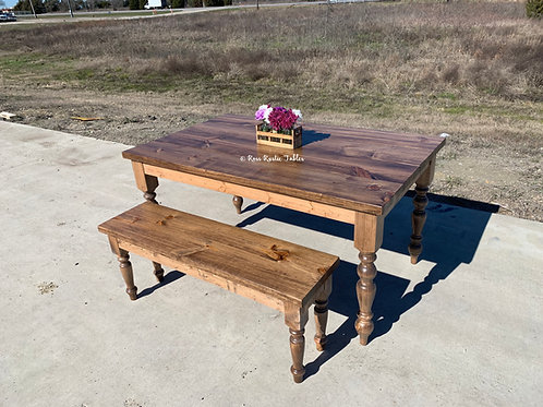 Skinny Rustic Cottage Table & Bench