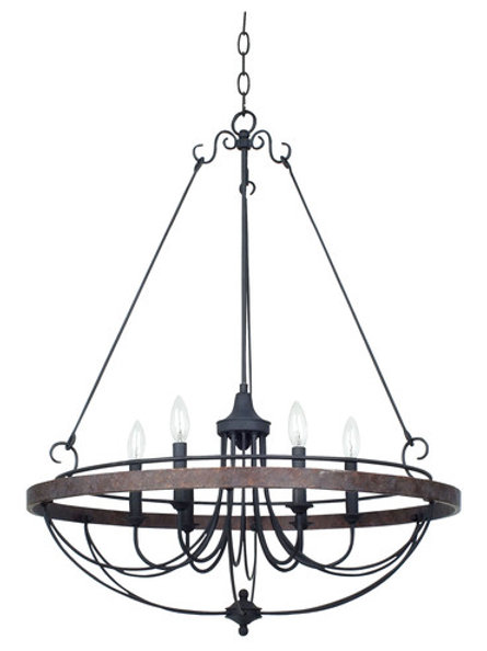 Helena Forged Iron Chandelier
