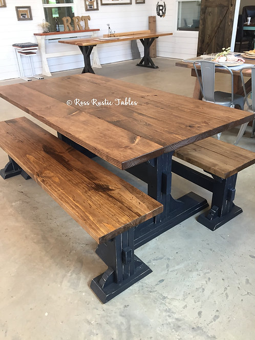 Country Kitchen Table & Benches
