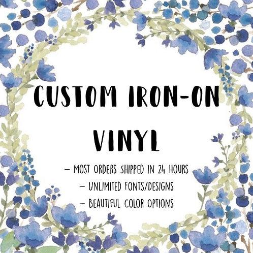 Custom Iron On Vinyl