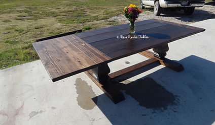 wood dining table with extensions
