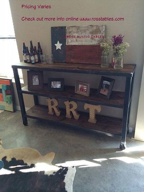 Metal & Wood Sofa Table - Several Styles