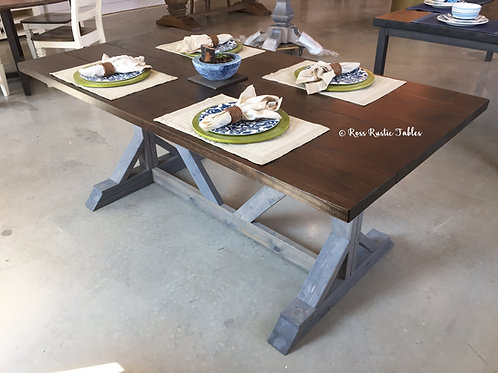 Fancy Farmhouse Table - Two Tone