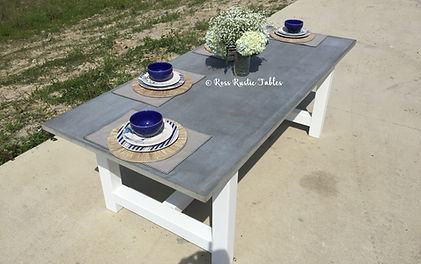unique dining table made of concrete