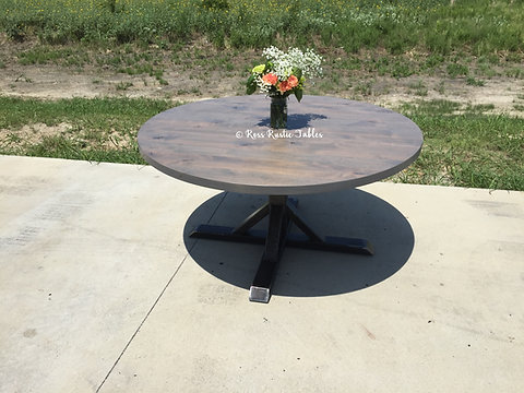 Round Metal Fancy Farmhouse Table Rossrustictables