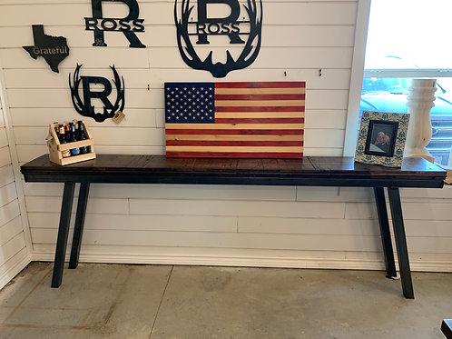 Reclaimed Boxcar Sofa Table