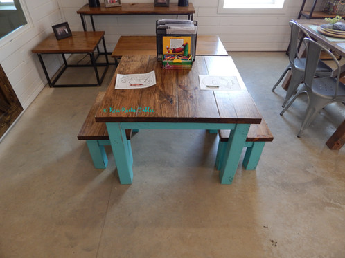 Kid\'s Coloring Table & Benches | Ross Rustic Tables