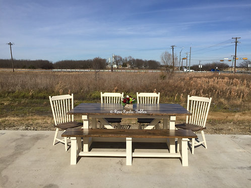 Farm Beam Table w/ Seating Options
