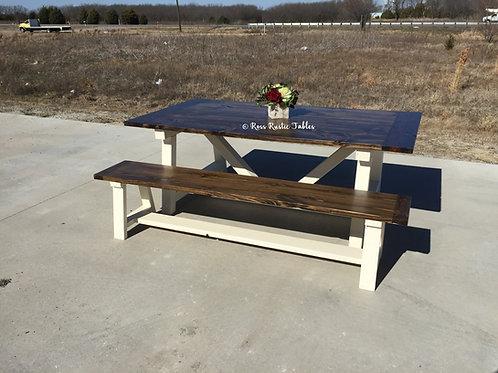 Farm Beam Table & Bench