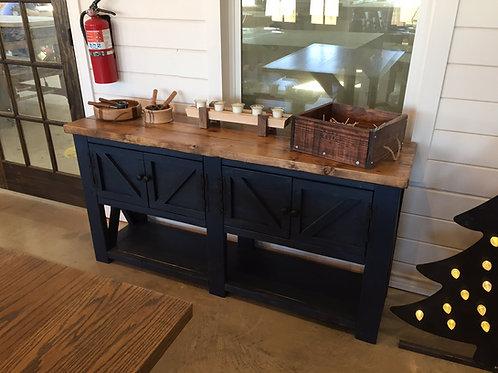 Rustic Sofa Table w/ Doors