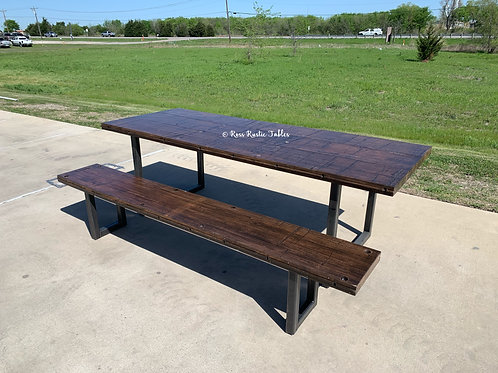 Boxcar Wood Table & Bench