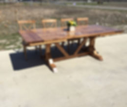 wood dining table with extension