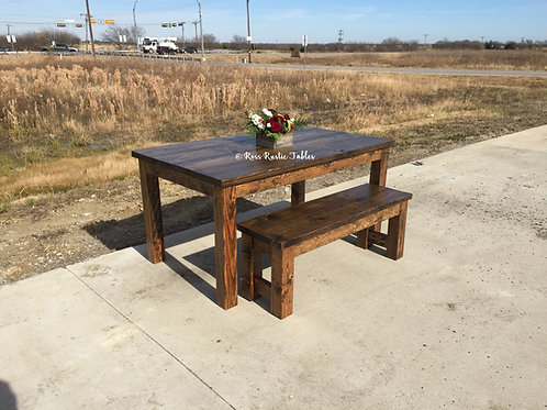 Simple Farmhouse Table & Bench