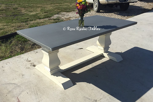 Zinc Trestle Table
