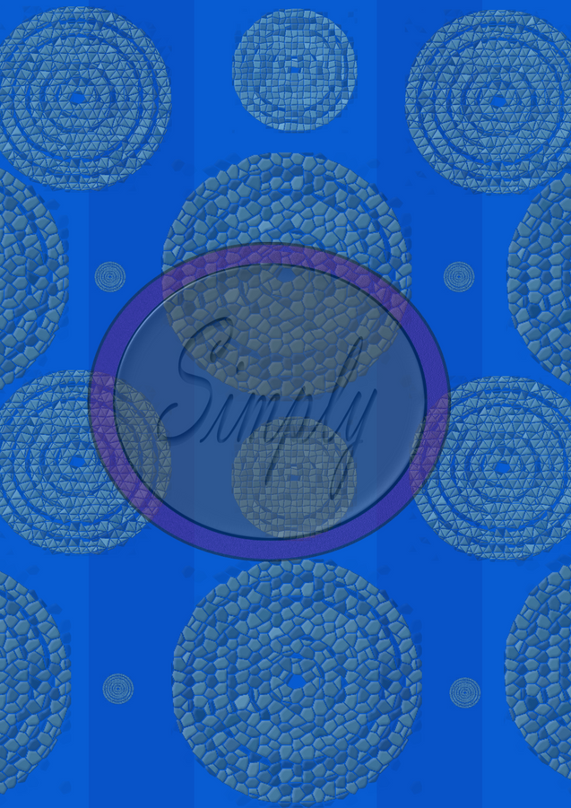 Bluemosaictargetcircles