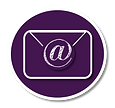Simply branded circle email icon prp.wht