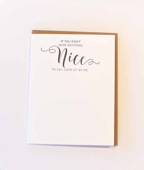 Letter press Jess cards