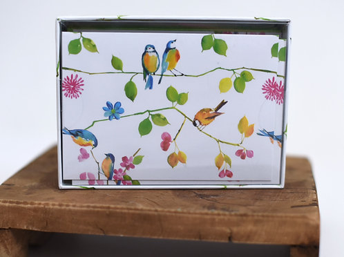Watercolor Birds Notecards