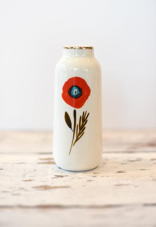Red Poppy Vase