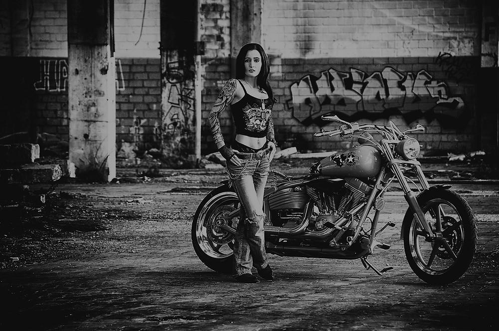 Harley-Davidson Biker Model - Fotoshooting