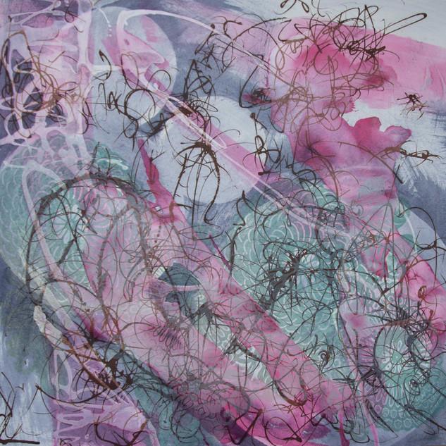 62 x 62 cm, Mokulito, Ink
