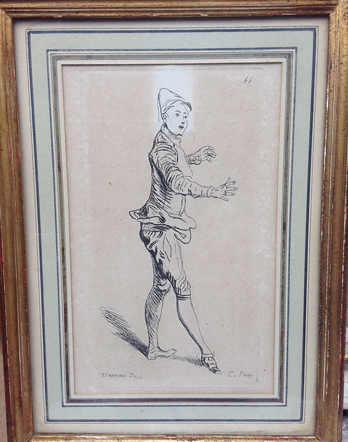 An original J. Watteau etching 18th century