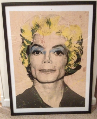 1/1 Mr Brainwash. M.J Screenprint paster 2008