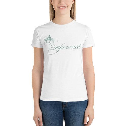 Ms. Empowered Powder Blue Short sleeve women's t-shirt