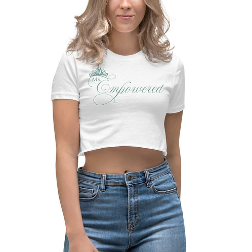 Ms. Empowered Powder Blue Women's Crop Top