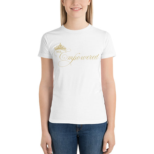 Ms. Empowered 14K Gold Short sleeve women's t-shirt