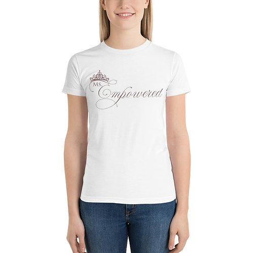Ms. Empowered Purple Short sleeve womens t-shirt