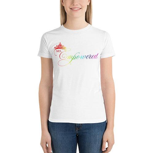 Ms. Empowered Pride Short sleeve women's t-shirt