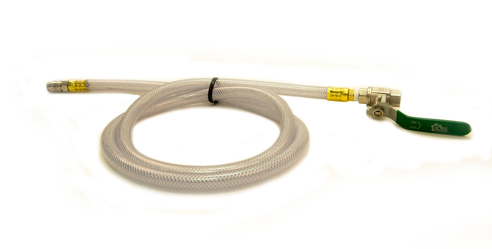5' hoses with ballvalve