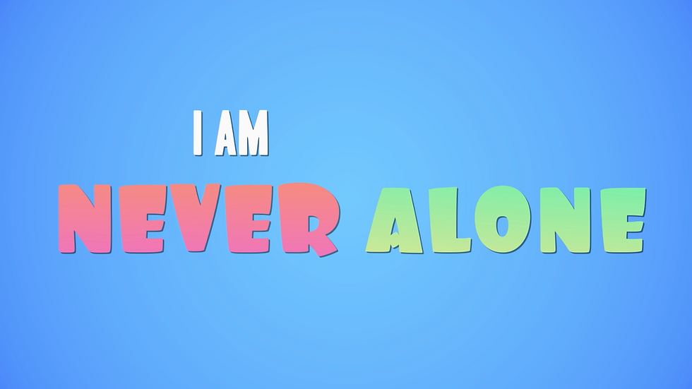 Never Alone - Lyric Video