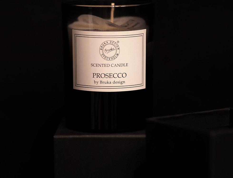 Doftljus Prosecco (rökfärgat glas) Bruka Design