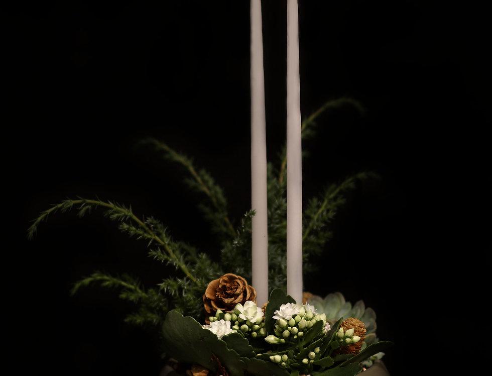 Plantering i naturnära toner med ljus