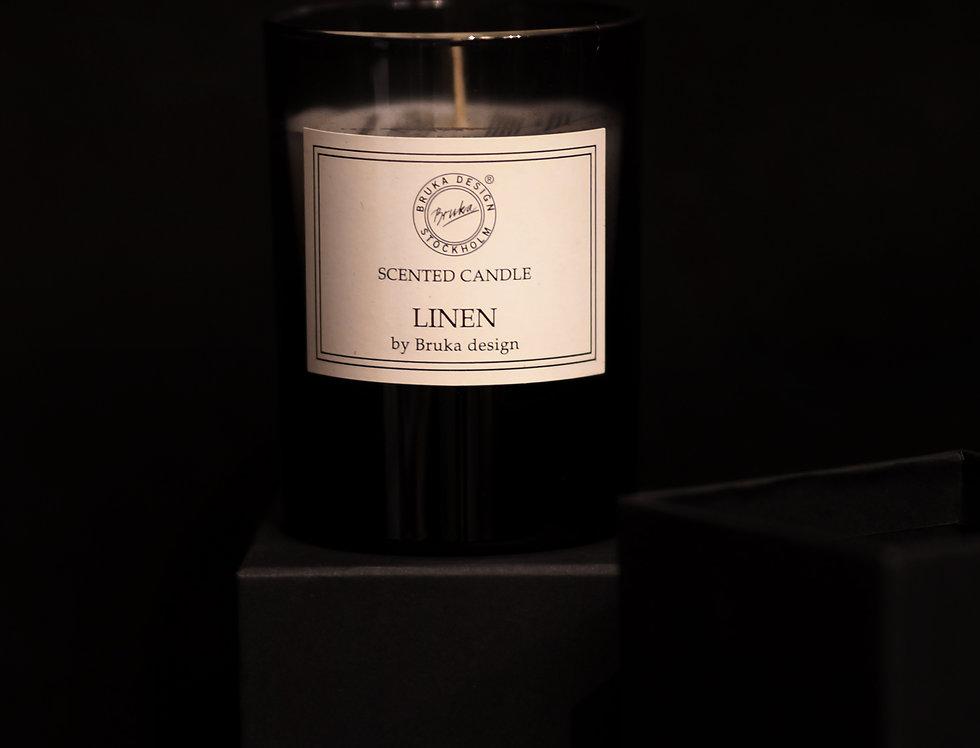 Doftljus Linen (rökfärgat glas) Bruka Design