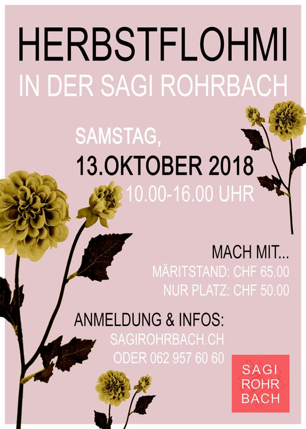 Herbstflohmi in der Sagi Rohrbach