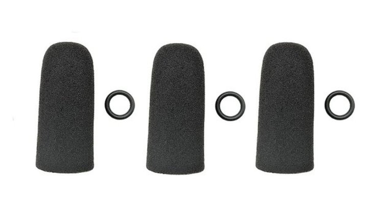 Three (3) Replacement windscreens for David Clark and Crystal Mic Pro headsets
