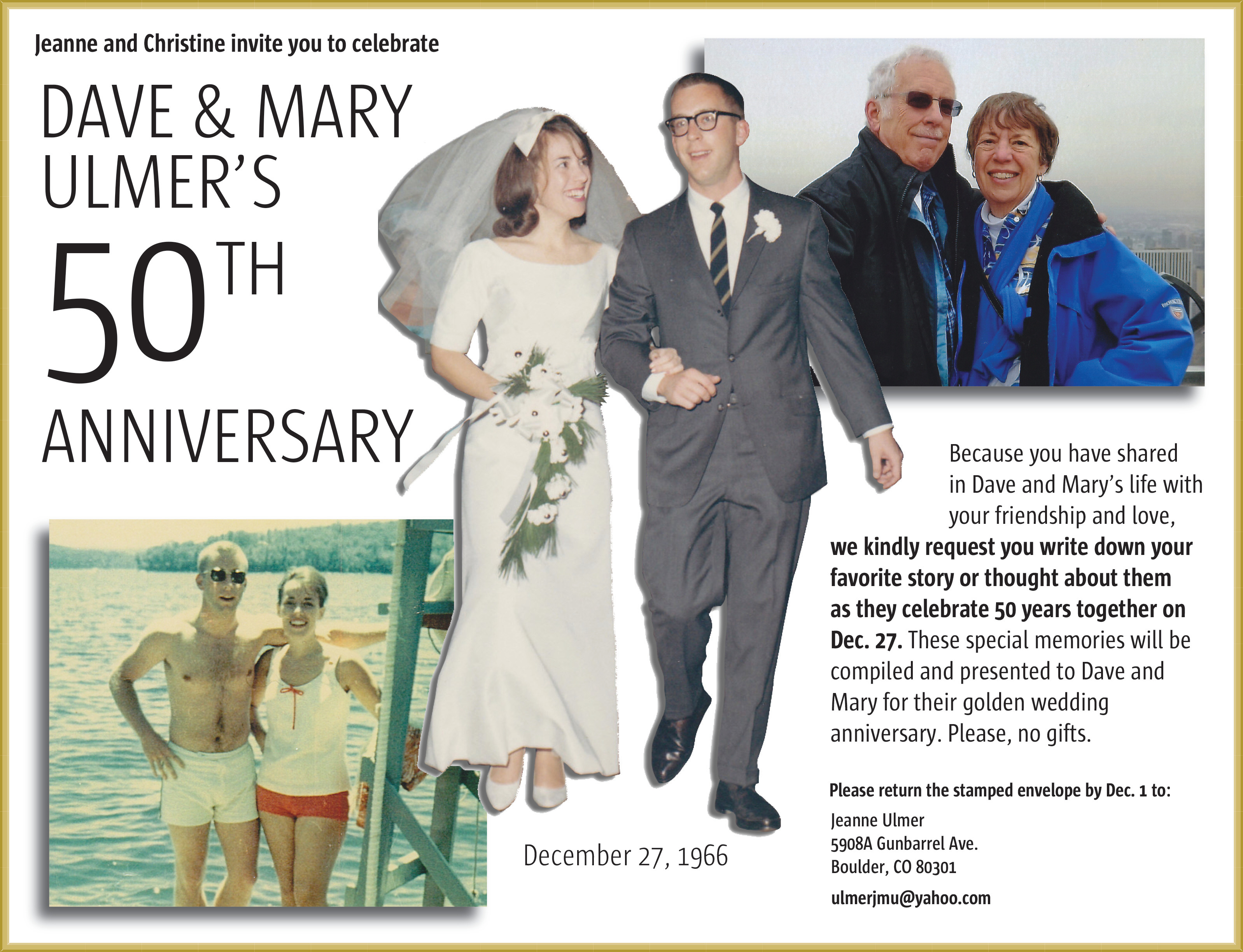 50th wedding celebration