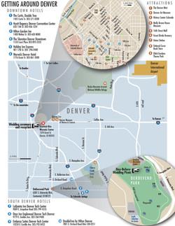 Detailed Denver map