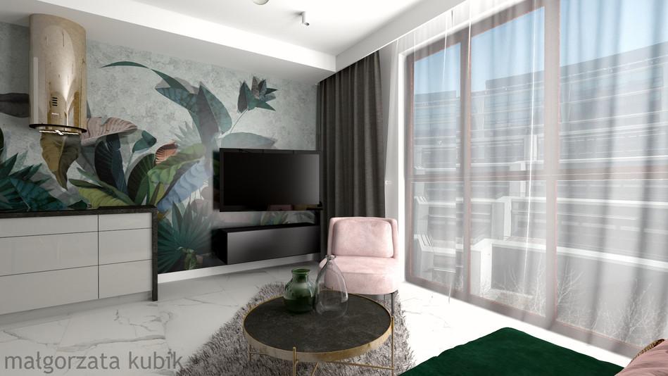 Mieszkanie z akcentami zieleni