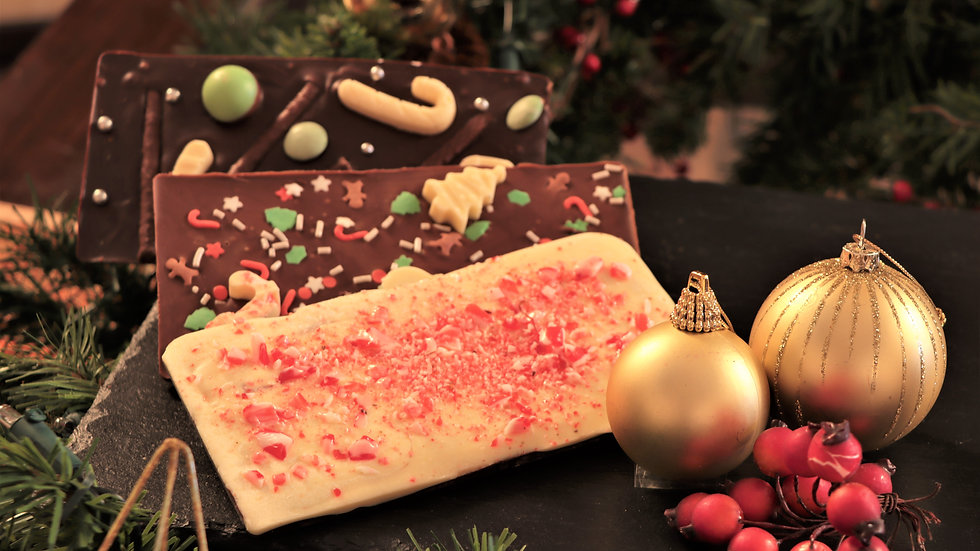 Christmas Chocolate or Fudge Slab