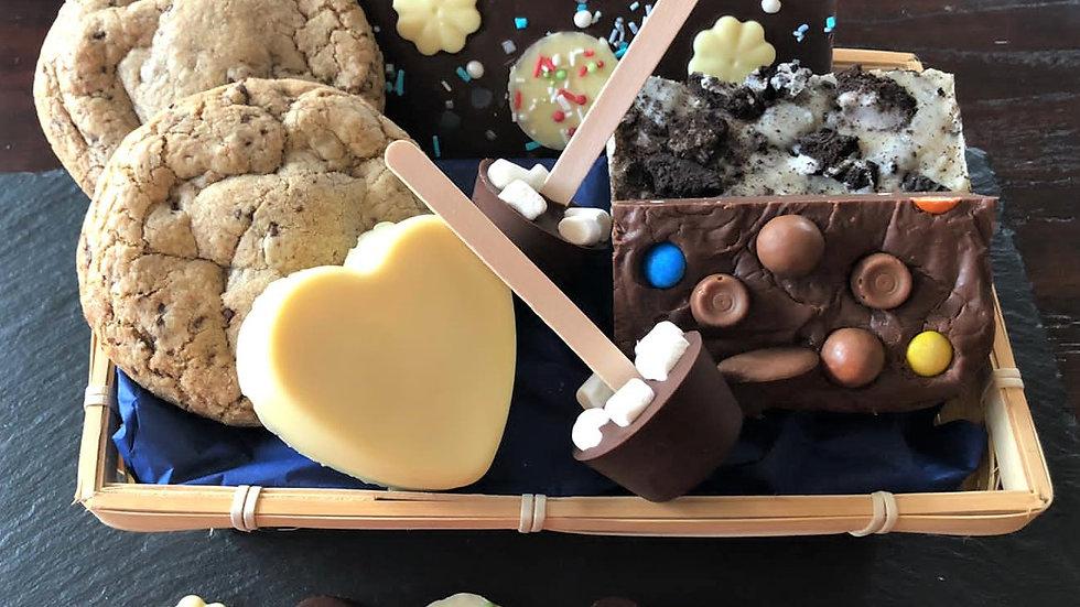 Fudge, Chocolate & Cookies Gift Hamper