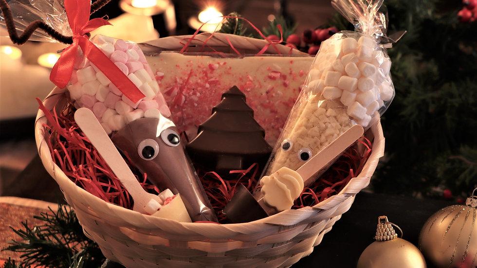 PRE-ORDER - Christmas Hot Chocolate Gift Hamper Basket