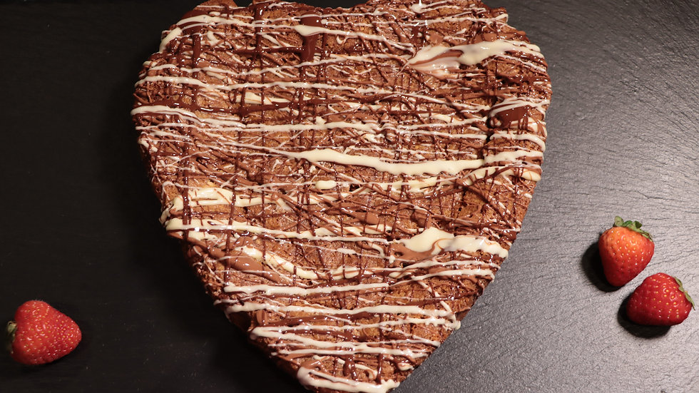 Giant Heart Brownie
