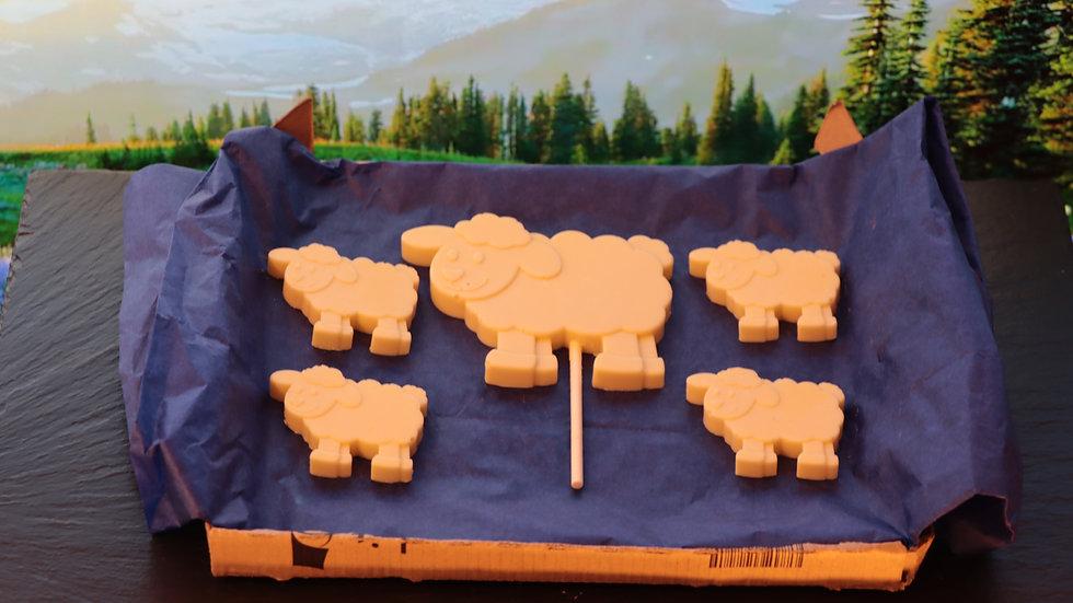 Belgian Chocolate Sheep Farmyard Set