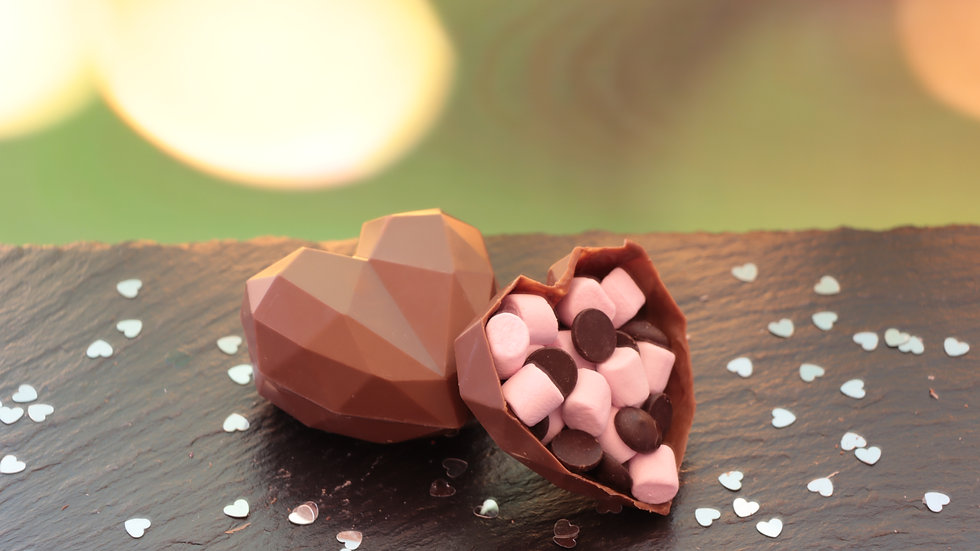 Set of Heart Hot Chocolate Bombs