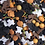 Thumbnail: 100g Halloween sprinkles, cupcake decorations, ghosts, skull, witches, bats